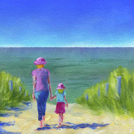 Together walking through the sand dunes by Karen Kaspar