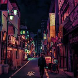 Tokyo Street After Dark - DWP1476397 by Dean Wittle