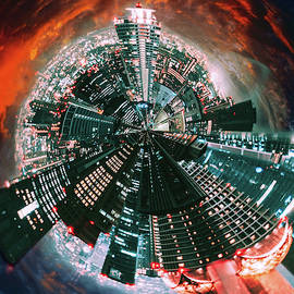 Tokyo Tiny Planet by Susan Maxwell Schmidt