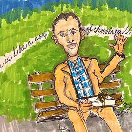 Tom Hanks Forest Gump Life Is Like A Box Of Chocolates by Geraldine Myszenski