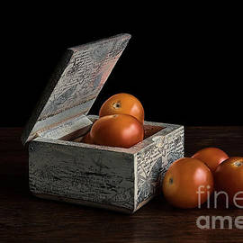 Tomatoes on Rustic Box