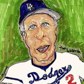 Tommy Lasorda Los Angeles Dodgers  by Geraldine Myszenski