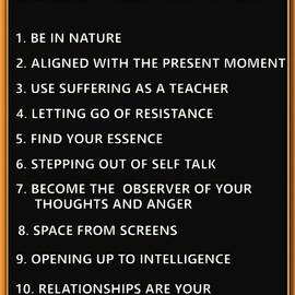 Top Ten Tips by Eckhart Tolle by Mario Carini