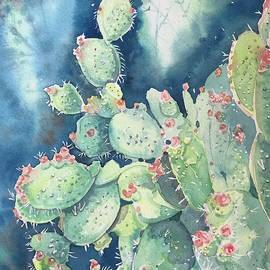 Topanga prickly Pear Cactus by Luisa Millicent