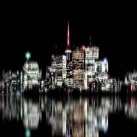 Toronto Skyline Blur Version No 1 by Brian Carson