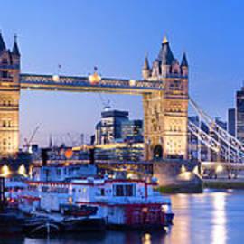 Tower Bridge at dusk, London, UK by Justin Foulkes