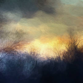 Towpath Sunset Abstract by Francis Sullivan