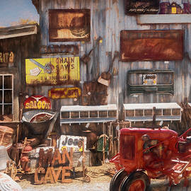 Tractor Collectibles Painting by Debra and Dave Vanderlaan