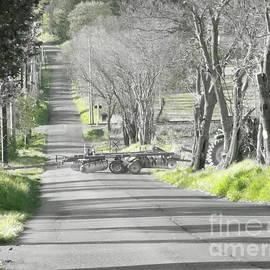 Tractor Cross Long Road Green Spot by GJ Glorijean