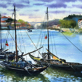 Traditional Boats of Porto by Dora Hathazi Mendes