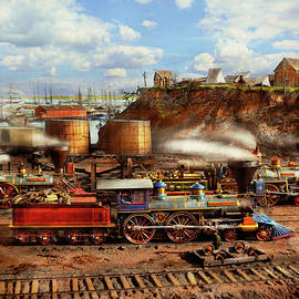 Train - Civil War - The locomotives of City Point 1865 by Mike Savad