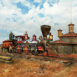 Train - Civil War - US Military Engine 133 - 1863 by Mike Savad