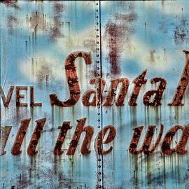 Travel Santa Fe Sign by Steven Bateson