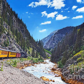 Traveling on the Vintage Train in Colorado by Catherine Sherman