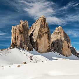 Tre Cime di Lavaredo or Drei ZInnen peaks, Dolomites, South Tyro by Stefano Politi Markovina