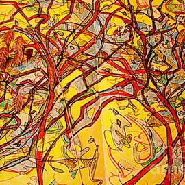 Trees in Van Gogh Colors by Nancy Kane Chapman