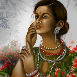 Asian Tribal girl by Anjali Swami