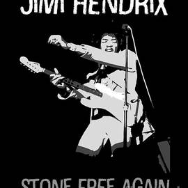 Tribute to Jimi Hendrix by BlackLineWhite Art