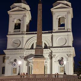 Trinita dei Monti Church in Rome at Night by Artur Bogacki
