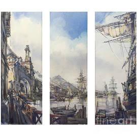 Triptych - Harbour. by Andrey Svistunov