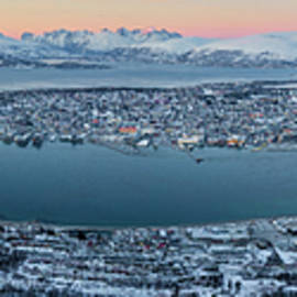 Tromso from the Mountains by Dave Bowman