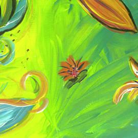 Tropical Flower Swirls