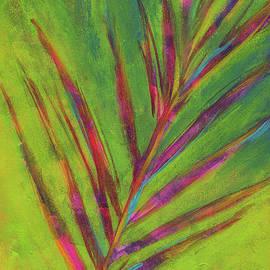 Tropical palm leaf abstract by Karen Kaspar