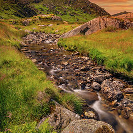 Tryfan Mountain East Sunset Snowdonia by Adrian Evans