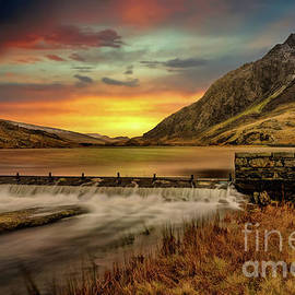 Tryfan Mountain Sunset Snowdonia by Adrian Evans