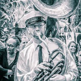 Tuba Player French Quarter  by Kathleen K Parker