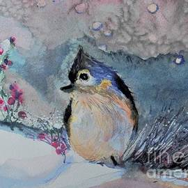 Tufted Titmouse in the Snow by Mindy Newman