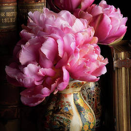 Tulips in the Library by Ann Garrett