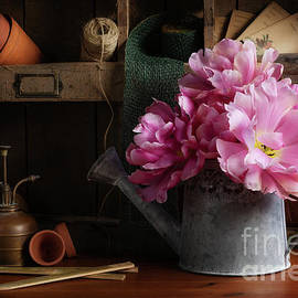 Tulips in the Potting Shed by Ann Garrett