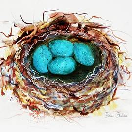 Turquoise Bird Eggs by Barbara Chichester