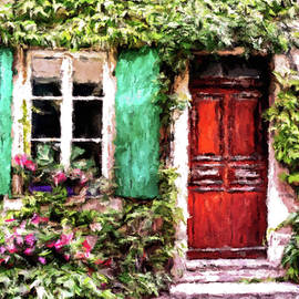 Turquoise Blue Shutters by Susan Maxwell Schmidt