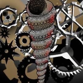 Turritella Seashell Industrial Bent by Joan Stratton