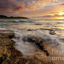 Turtle Bay Sunset Surge by Mike Dawson