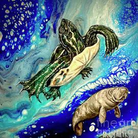 Turtle Splash blue springs manatee  by Crystal Dombrosky