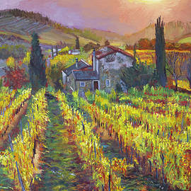 Tuscan Winery Harvest by David Lloyd Glover