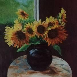 Twelve Sunflowers  by Lamei Lepschy Bian