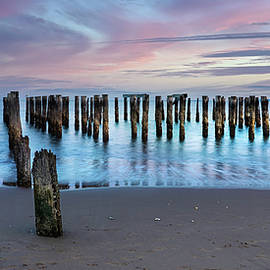 Twilight at Old Pier - South Beach Art Photo by Lily Malor