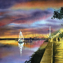 Twilight at Ria Formosa Olhao Portugal by Dora Hathazi Mendes