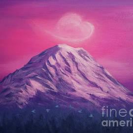Twilight on Mount Rainier by Yoonhee Ko