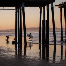 Twilight Surfing at Pismo Beach, California by Mitch Knapton