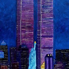 Twin Towers Pre 911 by Julie Brugh Riffey