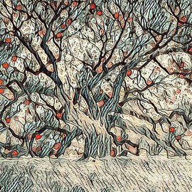 Live Oak Berries by Norma Brandsberg