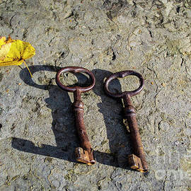 Two antique old keys by Birgitta Astrand
