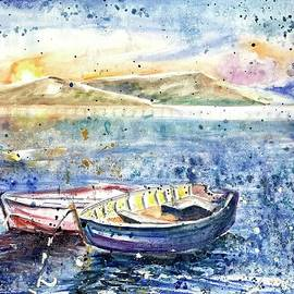 Two boats on the lake by Mariia Browne