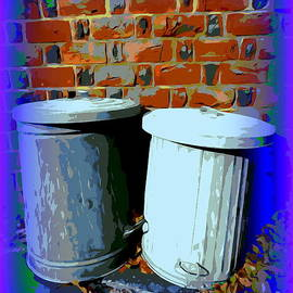 Two Garbage Cans #1 by Ed Weidman