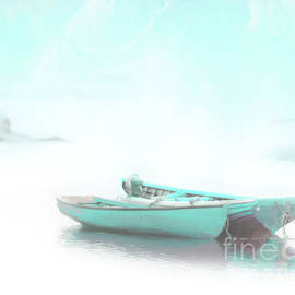 Two Rowboats in the Blue by Hal Halli
